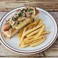 料理メニュー写真マッシュルームチーズドッグ