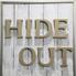 隠れ酒場 HIDE OUTのロゴ