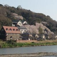 香東川の景色で楽しむ春夏秋冬