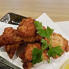 特製香味葱ソースの若鶏唐揚げ