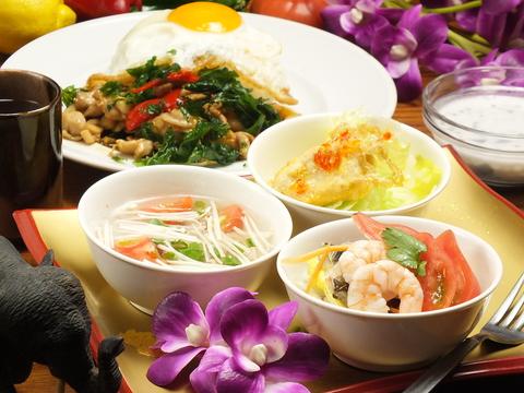 タイ王国の宮廷料理を味わえるお店♪CAFEのようなお洒落空間☆