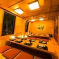 ゆったり団体個室。歓送迎会・宴会・貸切・二次会にも最適です。会社宴会や同窓会等の大規模宴会まで様々な飲み会に◎