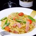 沖縄の食材を使った琉球パスタは絶品です