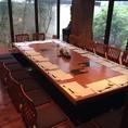 最大20名様まで可能の宴会部屋(完全個室)※14名様以上となります。人気席の為1ヶ月前からの要予約制!