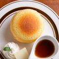 料理メニュー写真ぽってりホットケーキ シングルセット