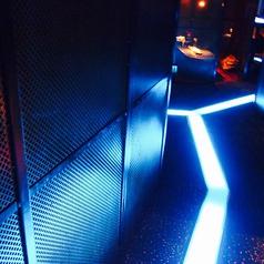 異空間!ブラックライトがあやしく光る店内