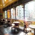 解放感溢れる人気のテラス席★渋谷の街を見下ろしながら飲む一杯は格別!