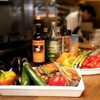 大分で獲れた新鮮なお野菜、お肉、魚介類をイタリアンで