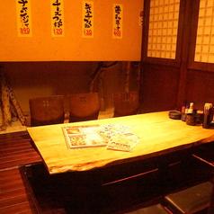 店内奥の個室とはまた違った雰囲気の個室