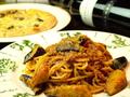 料理メニュー写真ナスのミートソーススパゲティ