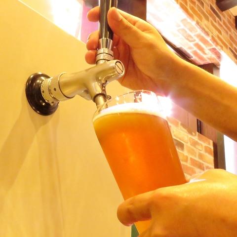 新潟県産の樽生クラフトビールをご提供!県外・海外のビールも各種ご用意!