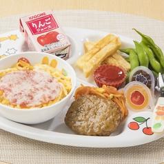 料理メニュー写真ハンバーグと選べるお子様丼セット【まぐろたたき丼または天丼】