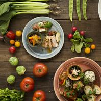 鶏料理との相性抜群!地元のお野菜を使用」しています