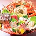 鮮度が命の魚を経験豊富な板前が丁寧にさばくことによって、お客様に新鮮なお料理をご提供いたします。その日に入った旬の魚を是非違いがわかるお刺身でご堪能ください。