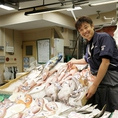 大口水産がお届けする季節の新鮮な海産物を使用。