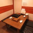 お座敷席は、お席の間を襖で仕切り、区切ることで衛生対策を行っております。