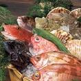 土風炉の新鮮な活魚。旬の物はうま味も栄養も満点です。移り変わりの早い旬の魚は、スタッフまでお尋ねください。土風炉自慢の鮮魚を、ぜひご堪能ください!