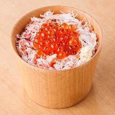 料理メニュー写真人気の王道コンビ 蟹いくら