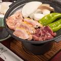 料理メニュー写真大山鶏と野菜の宝楽焼き