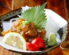 料理メニュー写真琉球(鮮魚刺しのねぎごま醤油漬け)