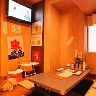 【大型モニター付個室×2完備♪】何と6名~貸切可能♪