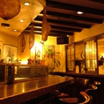 地下に広がる広々空間!テーブル席は全46席。ワイワイ愉しむのもいいよね!名古屋の大人気老舗スペインバル!!自慢の美味しいお料理とワインがウリの楽しいお店です★カウンターは1人で飲んでも、友達同士でも、デートでも!気軽に楽しめる雰囲気です★お祝い・サプライズも承っております★お気軽にお問い合わせ下さい♪