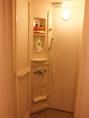 シャワー室は、常に清潔に清掃しています。