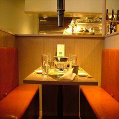 人気のテーブル席