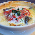 料理メニュー写真挽き肉とチーズのラザーニャ