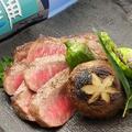 料理メニュー写真石垣牛炙り焼き(石垣塩とポン酢)