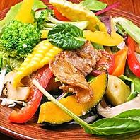 幻霜豚と千葉野菜の農園サラダ