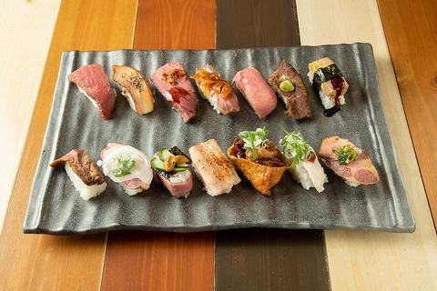 自慢のお肉のお寿司をぜひ♪海老クリームスープカレーも大人気♪肉カフェならロビコネ