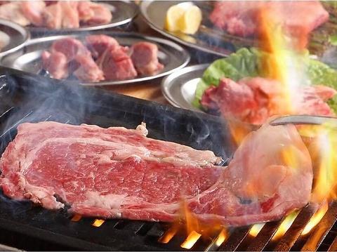 【折尾駅徒歩3分】駅前の焼肉酒場◆名物の国産牛ロース大判一枚焼やネギトンは最高!!