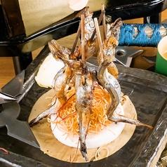 焚き木…柳葉魚串焼き(たきぎ…ししゃもくしやき)