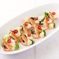 料理メニュー写真舌平目と海老のファルシ ポテトとクリームのグラタン仕立て