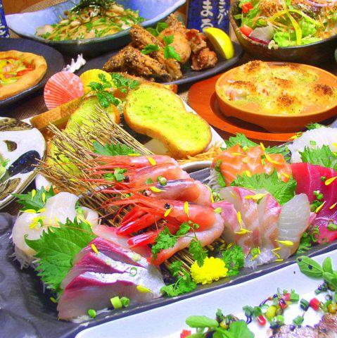 贅沢なお料理を満足ゆくまで♪「ぜいたくコース」料理10品+飲み放題付♪3時間ゆったり♪5000円