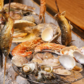 料理メニュー写真シズル感◎海鮮囲炉裏焼き 各種