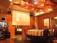 4名~80名収容完全個室、貸切宴会場、プロジェクター 、カラオケ、PC、マイクなど音響設備完備!