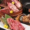 ●新潟県産の村上牛や越後もちぶたをはじめ、お肉料理も充実!村上牛炙り寿司、村上牛の鉄板炙り焼き、越後もちぶた 角煮、もちぶたしゃぶしゃぶなどなど。