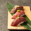料理メニュー写真お寿司盛り合わせ(和牛・赤身・霜降り2貫ずつ)