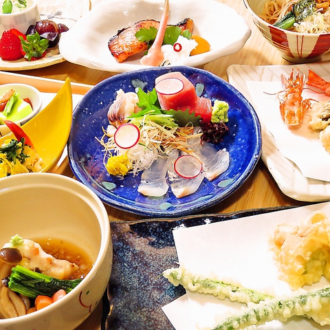 【おまかせ天ぷらコース】 御料理のみ全8品お一人様5500円(税込)