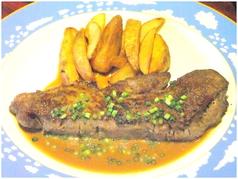 料理メニュー写真牛肉のステーキ(国産牛)ジャポネソース