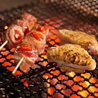 こだわり食材を職人が備長炭で1品1品丁寧に焼きあげる技