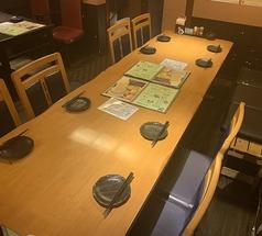 8名様×1席テーブル連結によりご案内できます