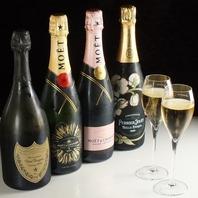 豊富なドリンク♪お祝いの席にはスパークリングワインを