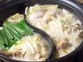 料理メニュー写真【新名物!】水炊きももつ鍋も愉しめる《2色鍋》