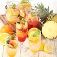 土間土間人気のドリンクで乾杯を♪見るだけで楽しい色鮮やかなフルーツをたっぷり使用したフルーツサングリアやフルーツサワーなどは女性に大人気!お気に入りのドリンクで愉しい飲み会をご堪能ください♪