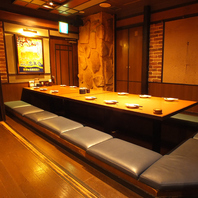 居酒屋和民は大小個室や半個室を完備♪