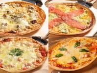 種類豊富ピザ