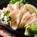 料理メニュー写真【人気 名物料理】とりのお刺身